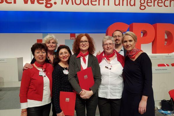 Verleihung des Wilhelm-Dröscher-Preises auf dem Bundesparteitag in Berlin